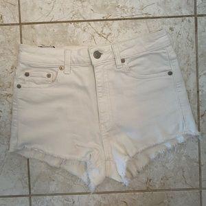 Aritzia White Denim Shorts